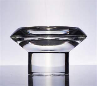 Karl Springer Crystal Art Glass Modern Bowl