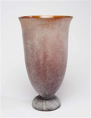 Monumental Karl Springer Corroso Art Glass 24 Vase