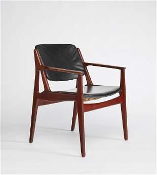Arne Vodder Teak Tilt Back Danish Armchair Chair