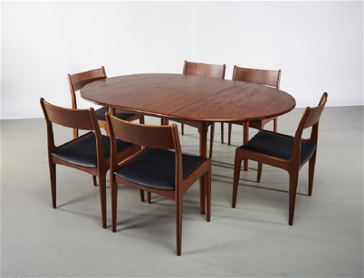 Vestergaard Teak Erfly Dining Table 6 Chairs