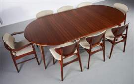 Svend Madsen Danish Teak Dining Table & 8 Chairs