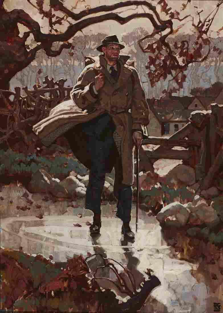 Dean Cornwell (American, 1892-1960) Oil Painting