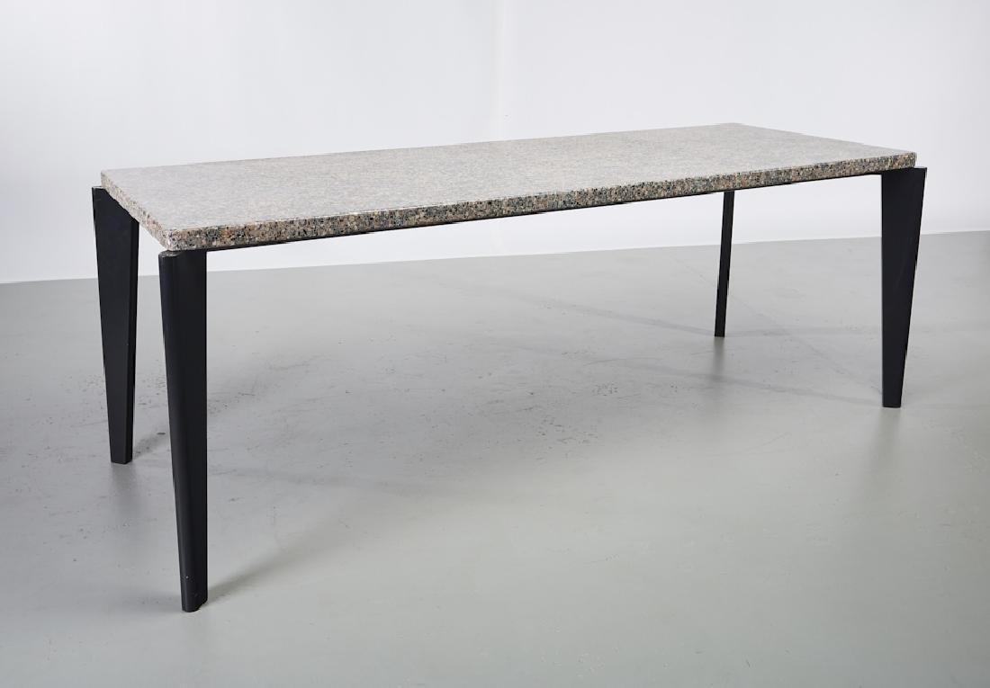 Jean Prouve Granito / Flavigny Prototype Table