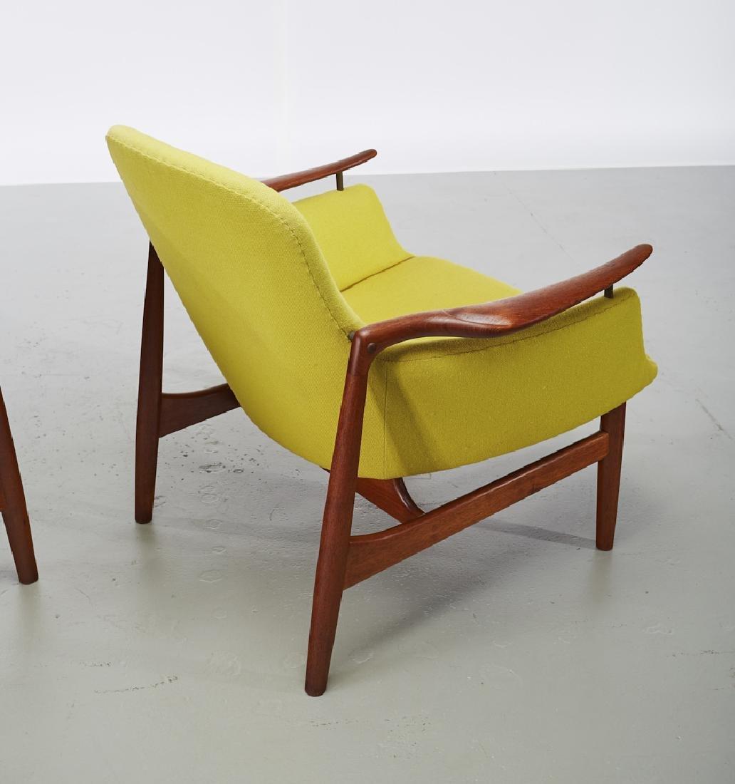 Pair of Finn Juhl Teak NV-53 Danish Lounge Chairs - 6