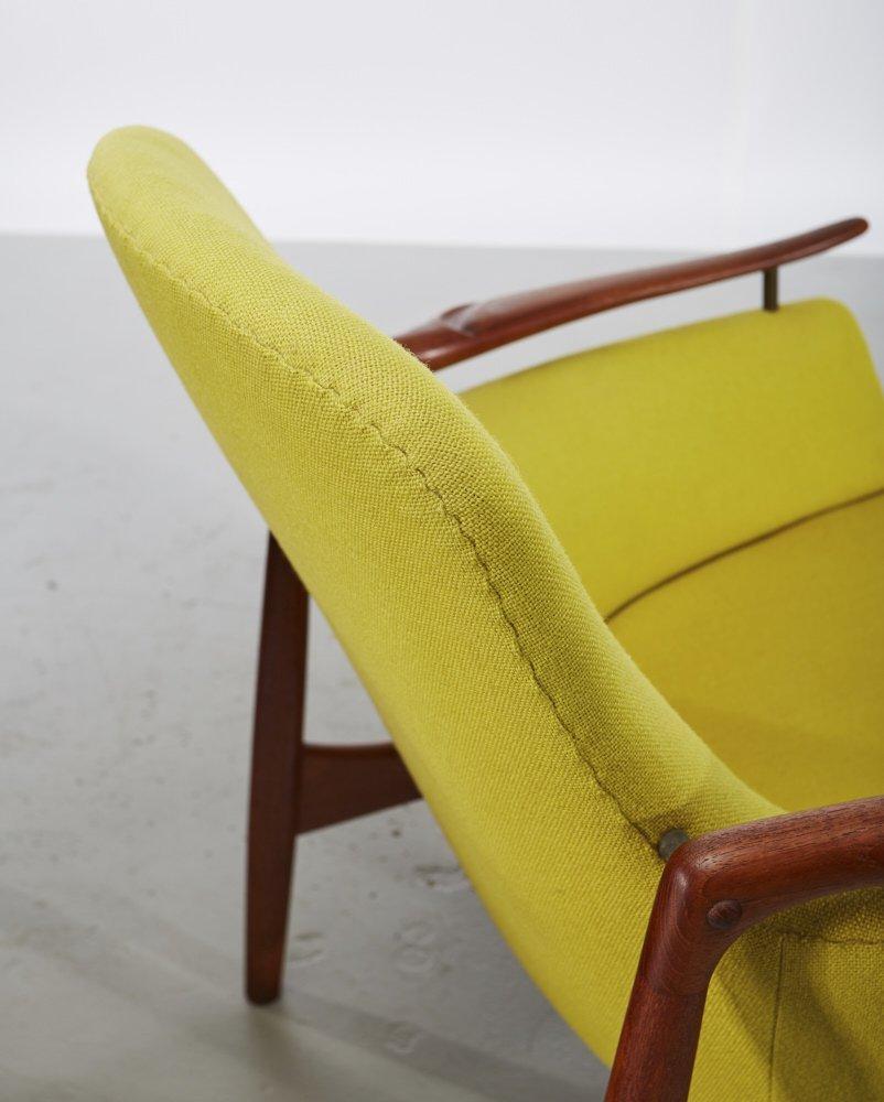 Pair of Finn Juhl Teak NV-53 Danish Lounge Chairs - 7