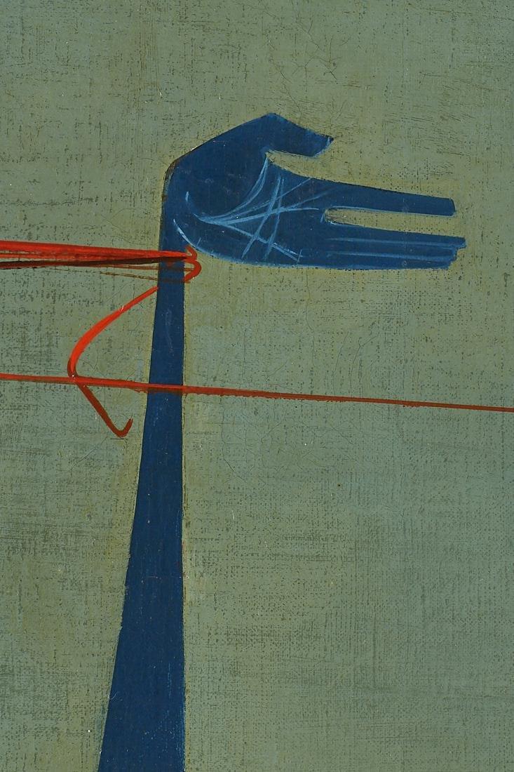 Mikulas Medek (Czech Rep, 1926-1974) Oil Painting - 10