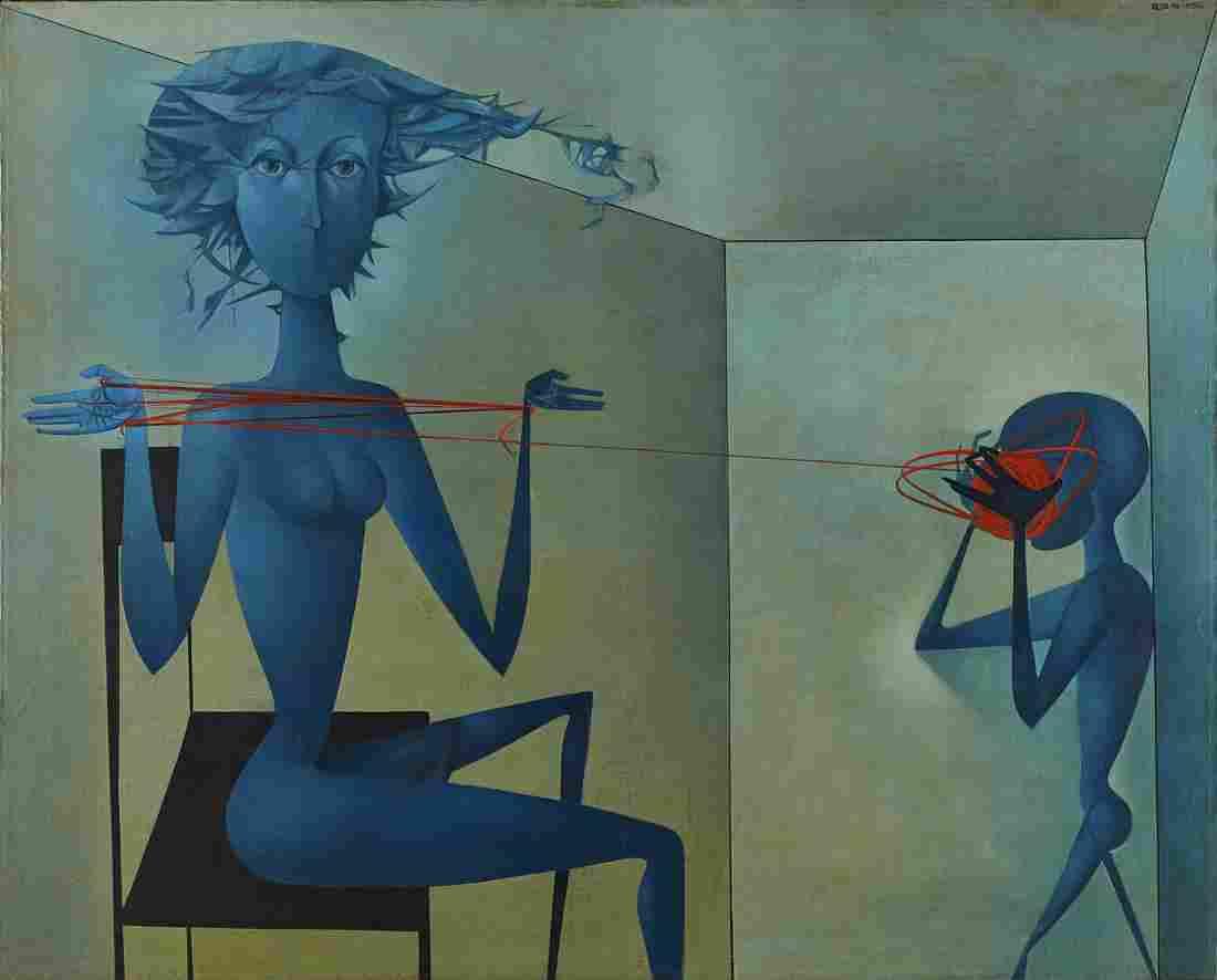 Mikulas Medek (Czech Rep, 1926-1974) Oil Painting