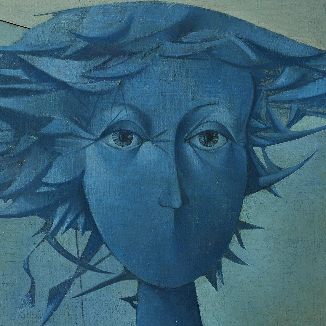 Mikulas Medek (Czech Rep, 1926-1974) Oil Painting - 2
