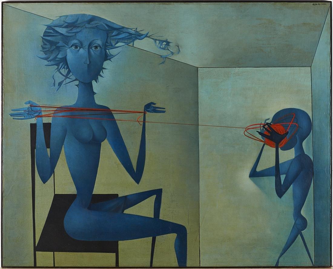 Mikulas Medek (Czech Rep, 1926-1974) Oil Painting - 3