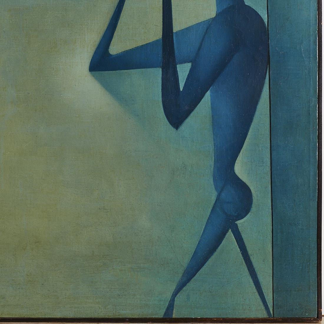 Mikulas Medek (Czech Rep, 1926-1974) Oil Painting - 4