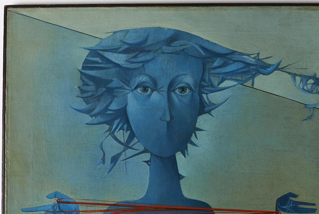 Mikulas Medek (Czech Rep, 1926-1974) Oil Painting - 5