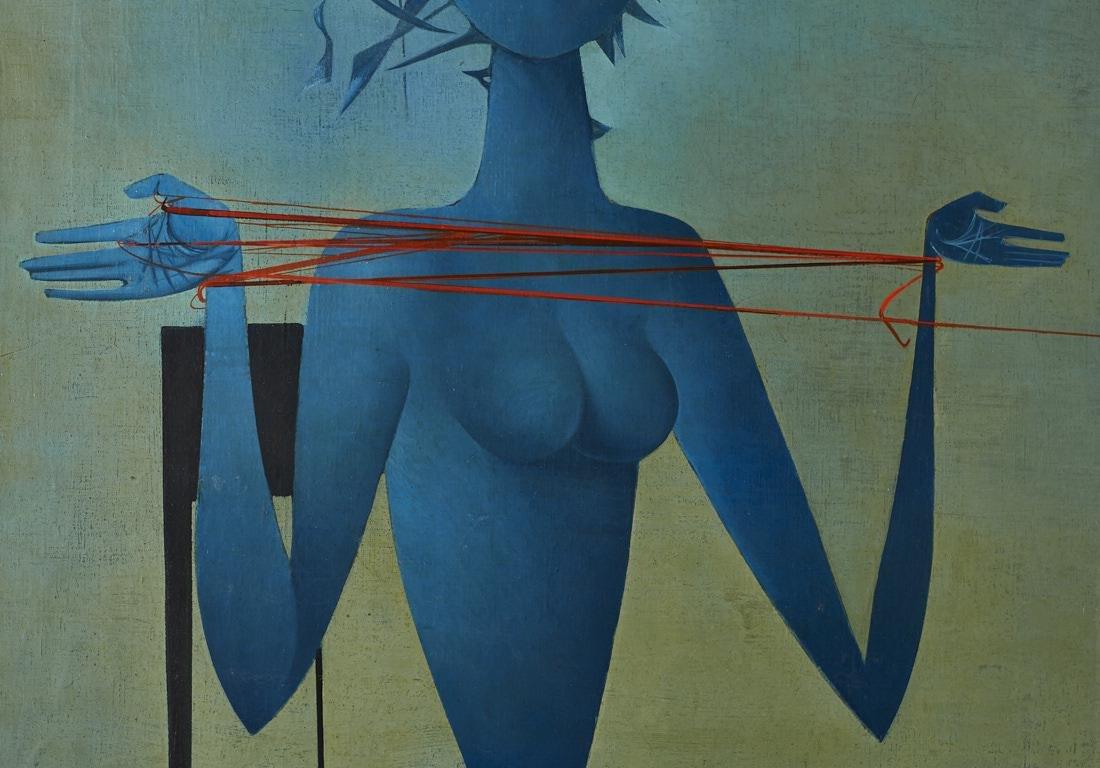 Mikulas Medek (Czech Rep, 1926-1974) Oil Painting - 8