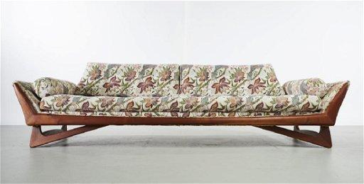 Tremendous Adrian Pearsall Mid Century Modern Gondola Sofa Creativecarmelina Interior Chair Design Creativecarmelinacom