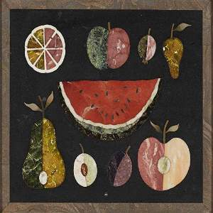 Richard Blow Montici Pietra Dura Watermelon Plaque
