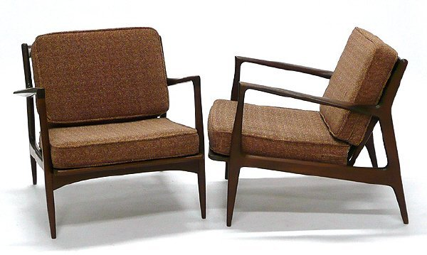 3: Pair Danish Teak Armchairs Signed Made in Denmark