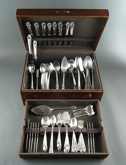 7: Arts and Crafts Sterling Frank Smith Woodlily 87pcs.