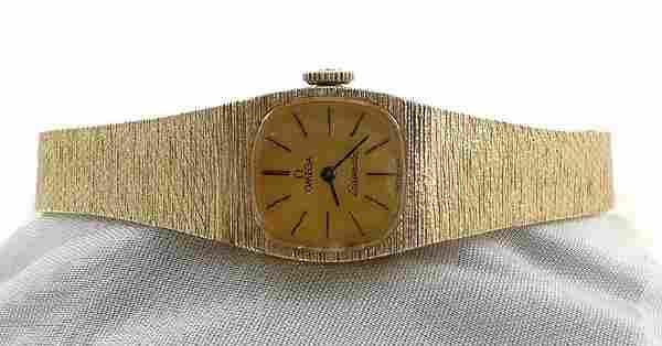 303: Ladies 1960s Omega SEAMASTER 14K Gold Watch 30grm