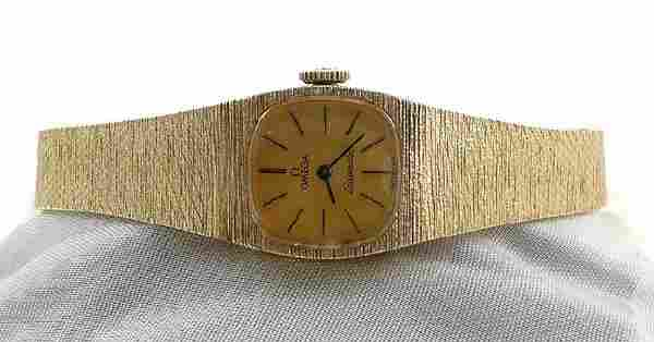 Ladies 1960s Omega SEAMASTER 14K Gold Watch 30grm