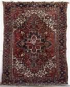 431 Old Heriz 106 x 84 Persian Oriental Carpet Rug
