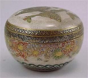 Meiji Period Miniature Kyoto Satsuma Butterfly Box