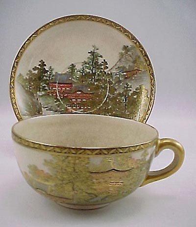 5: Intricate Kyoto Satsuma Meiji Period Cup & Saucer
