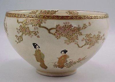 8: Antique Kyoto Satsuma Japanese Porcelain Bowl
