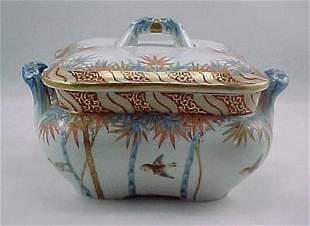 Fine Meiji Period Fukagawa Imari Serving Bowl