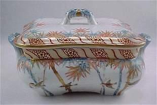 """SeiJiKaiSha Fukagawa 1870's Imari 11"""" Covered Bowl"""