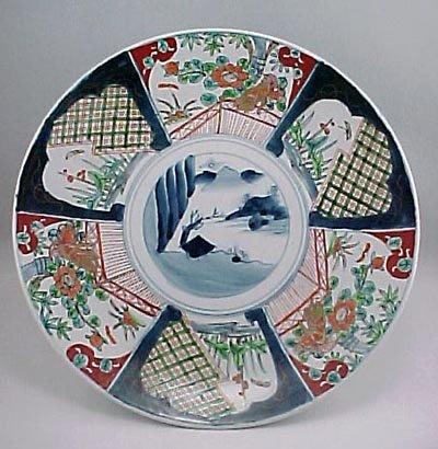 "18: Antique Japanese Imari 14"" Meiji Period Charger"