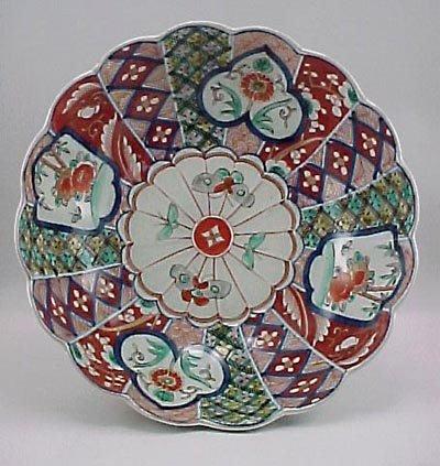 "19: Fine Japanese Imari Moth Decoration Meiji 11"" Bowl"