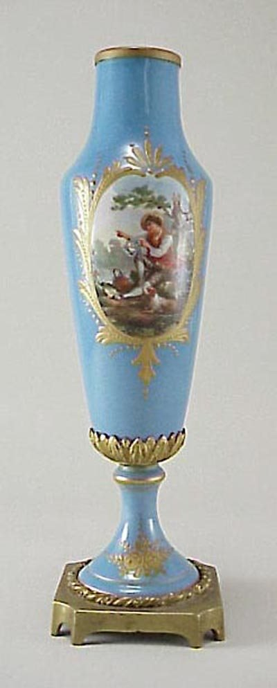 379: Sevres Type Late 19th C French Ormolu Mounted Vase