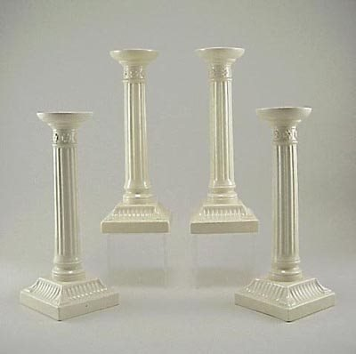 "382: Set of 4 Wedgwood Porcelain 9"" Candle Sticks 1920s"
