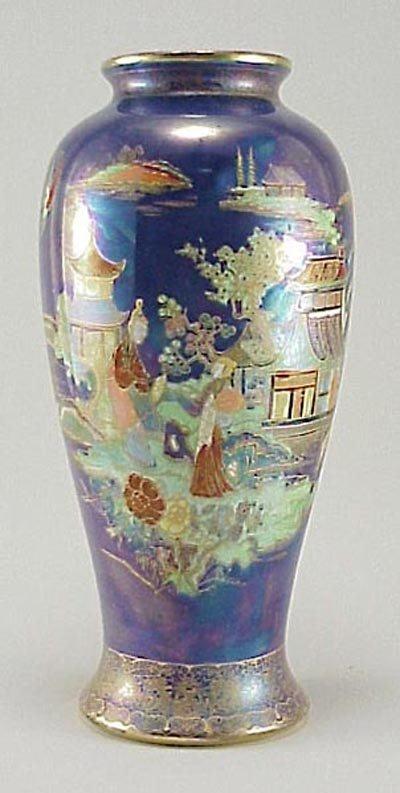 394: Art Deco Carlton Ware 1920s Oriental Pagoda Vase