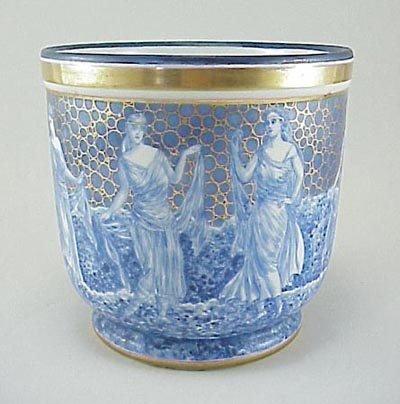 398: Limoges H&C Porcelain Dancing Ladies Cache Pot