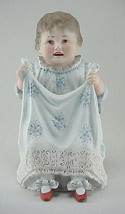 """399: German Piano Baby 19thC. Heubach 12"""" Bisque"""