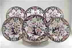 411 Set of 10 Royal Crown Derby 19th C Imari Plate s