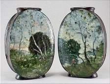 500: Rare Pair of Sg.Haviland Limoges Art Pottery Vase