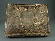 666 Enamel Art Deco 14K Gold 1920s Hand Bag Purse
