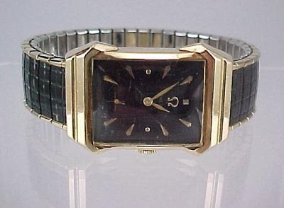 815: Art Deco 14K Gold Man's Omega Wrist Watch