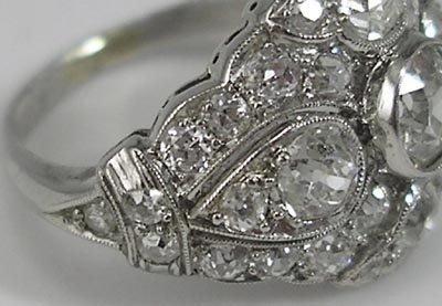 821: Fine Platinum 2+Carat  ArtDeco Ladies Diamond Ring - 3