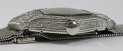 823: Longines Art Deco Platinum Diamond 18K Gold Watch - 5