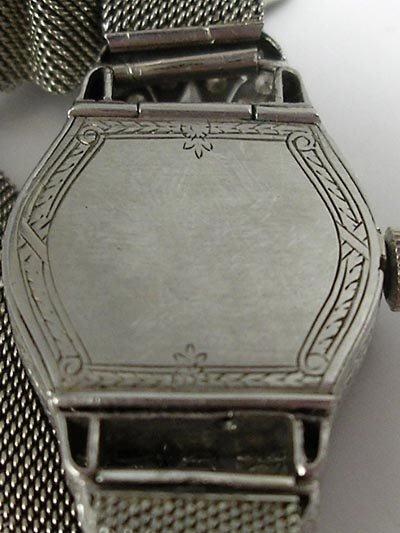 823: Longines Art Deco Platinum Diamond 18K Gold Watch - 7