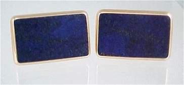 855 Victorian 1871 Lapis Lazuli Rose Gold Cufflinks