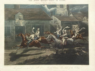 1136: H. Alken British 2 Prints The First Steeple Chase - 2
