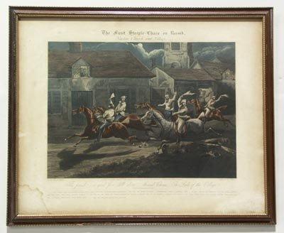 1136: H. Alken British 2 Prints The First Steeple Chase - 4