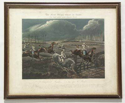 1136: H. Alken British 2 Prints The First Steeple Chase - 5