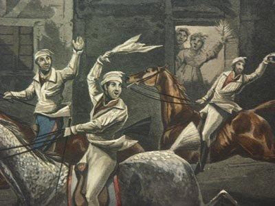 1136: H. Alken British 2 Prints The First Steeple Chase - 6
