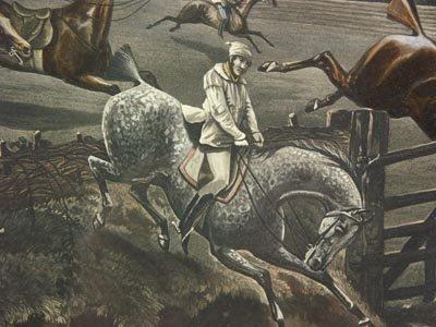 1136: H. Alken British 2 Prints The First Steeple Chase - 7