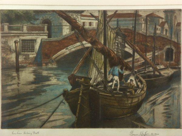 2: sg. Edward Bouverie-Hoyton (1900-1988) Etching Print