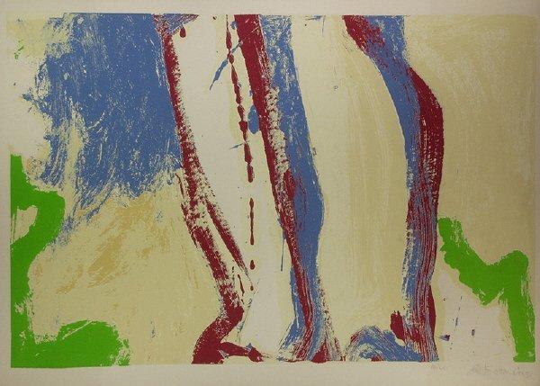 7: Willem de Kooning (1904-1997) signed Landscape Print